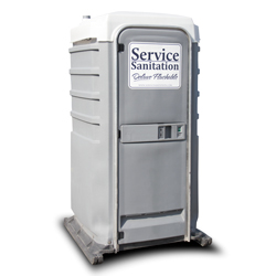 Portable restrooms for weddings for Deluxe portable bathrooms