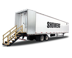 trailer aqua shower portable trailers rent hot max rental for