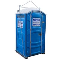 Crane lifted porta potty rentals for Porta john rental