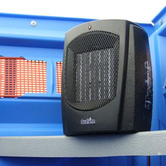 Space Heater in Porta John