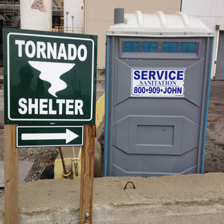 Shield Restroom From The Wind
